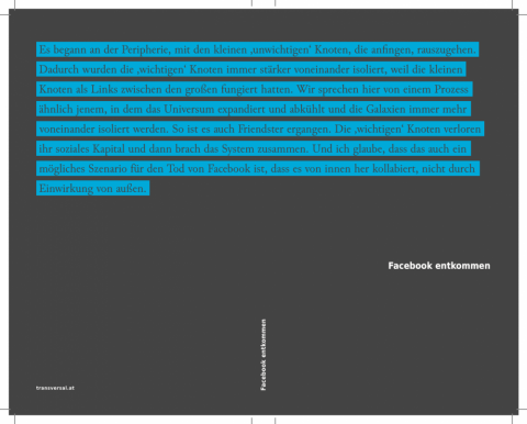 Facebook entkommen book cover